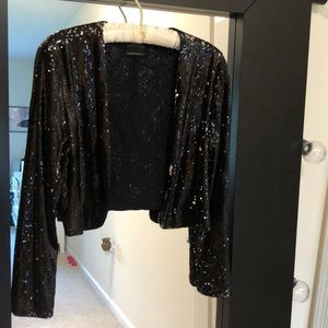 urban outfitters black sequin sweater size medium